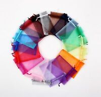 50PCS  Sheer Organza Wedding Xmas Party Favor Gift Candy Bags Jewellery Pouches
