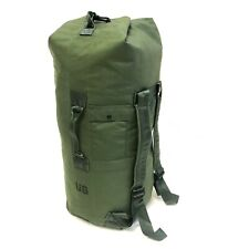 Military Duffle Bag, OD Green Nylon Sea Bag, Carry Straps, Army Luggage USGI