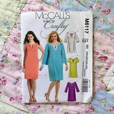 "McCALL'S M6117 - LADIES ""Make it Crafty"" DRESS pattern size RR 18W-24W uncut"