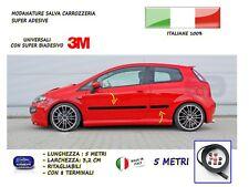 Tuning Grande Punto modanature esterne laterali in gomma per Fiat adesivi salva