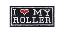 I Love my Roller Biker Heavy Rocker Patch Aufnäher Kutte Motorrad Stick Badge