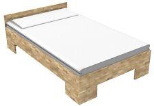 Bett massiv Echtholzbett Massivholzbett 90x220 Einzelbett Fuß II  Kerneiche