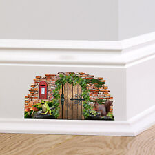 Woodland Fairy Pixie Door Wall Art Sticker Decal Cute Graphic Skirting Board