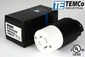 TEMCO NEMA L14-20R Female Plug 20A 125/250V Locking UL Listed for Generator