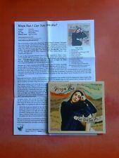 MAYA RAE Can You See Me? CD Album/Press Sheet!