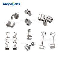 EASYINSMILE Dental Orthodontic Crimpable Hooks Sliding/Spiral,Cross/Double Tube