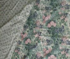 "Laura Ashley ASHBOURNE Hydrangeas Floral WINDOW SCARF Reversible 140"" 11+FT USA"