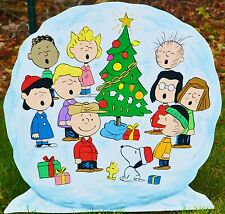 lawn stake peanuts gang in a snowball yard art Christmas decorations lawn art
