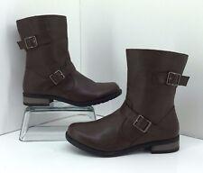 Bucco Capensis Ella Brown Short Biker Boots Size 8
