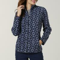 I.B. Diffusion Women's Microfleece Jacket  Snowflake blue Pink Lavender L XL XXL