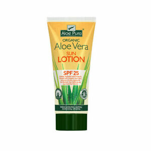 Aloe Pura Aloe Vera Sunscreen Sun Lotion SPF 25 UV Protection Skin Care 200ml