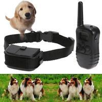 Pet Trainer Electric Remote Shock Dog Training Bark Collar Adjustable Vibration