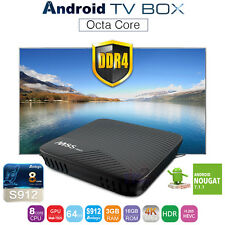 M8S Pro TV Box Android 7.1 4K 3GB DDR4 RAM Octa Core 2.4G 5G WIFI Streamer HDR