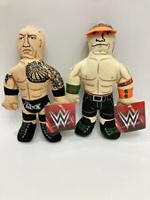 The Rock and John Cena canvas squeaker dog toys Petmate