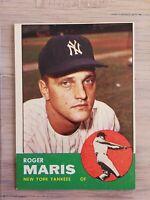 1963 Topps #120 Roger Maris (Yankees)  Ex+  Bold colors hi gloss sharp corners