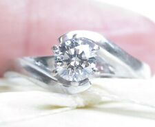 Beautiful Genuine 0.38ct Diamond Ring 18K White Gold