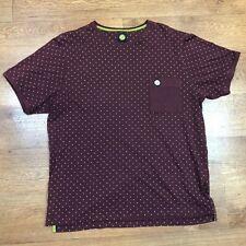 Pretty Green Pocket T Shirt Polka Dot Red Large