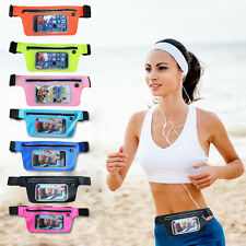 "GYM Running Jogging Waist Band Belt Touch Pouch Case Holder For Under 6"" Phones"