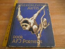 Dierenleven in Artis JPH Portielje-Scholten 1939 book German animal cards