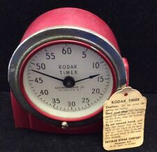 :Vintage Eastman Kodak Red Analog Wind Up Darkroom / Developing Timer Model 8239
