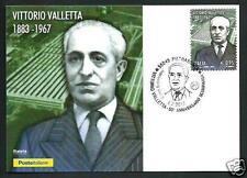 Vittorio Valletta ( Fiat ) - 2017 Cartolina Filatelica Ufficiale Poste Italiane