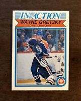 1982-83 O-PEE-CHEE Wayne Gretzky In Action Card #107 EDMONTON OILERS