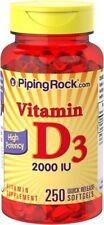 High Potency Vitamin D3, 2000 IU, 250 Softgels