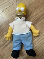 VINTAGE THE SIMPSONS Homer Simpson Burger King Plush Vinyl Toy from 1990