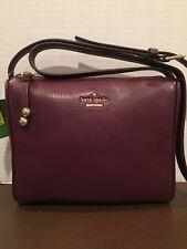 Kate Spade Lombard Street Cayli Leather Crossbody Bag,Deep Plum, NWT, MSRP:$198