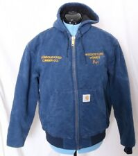Carhartt JQ1002 Union Woodstone Homes Lumber Quilt Lined Work Jacket Coat Mens L