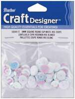 Cupped Sequins 8mm 200/Pkg White Iridescent 082676211904