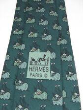Hermes - Vintage Designer Tie - Figurative - 7335EA - Made in France 100% Silk