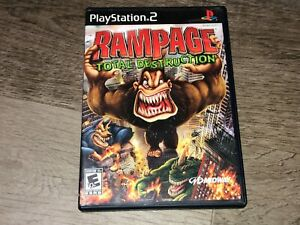 Rampage Total Destruction PlayStation 2 PS2 Complete CIB Authentic