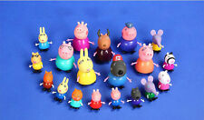 19pcs/Lot Peppa Pig Family Friends Teacher Dog Rabbit Cartoon Figure Toy 2017
