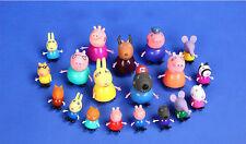 2017 19pcs/Lot Peppa Pig Family Friends Teacher Dog Rabbit Cartoon Figure Toy