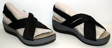 Clarks Cloudsteppers Arla Belle Jersey Sport Sandals Black Women's Size 9M New
