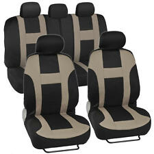 Car Seat Covers for Auto Beige Racing Design Poly Pro Snug Semi Custom Fit