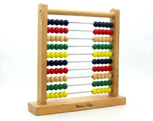 MELISSA & DOUG Abacus  Classic Wooden Educational Counting Toy 100 Beads