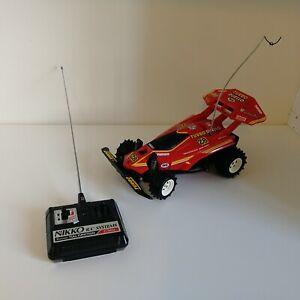 Gig Nikko Turbo Duello Rossa RC funzionante ottimo stato radiocomando Vintage