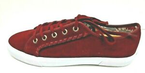 Jack Rogers Size 8.5 Burgundy Leather Water Resistant Sneakers New Womens Shoes