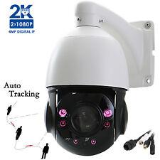 4.0MP 1520P CCTV 20x ZOOM Auto Tracking Waterproof DOME PTZ IP IR Camera P2P