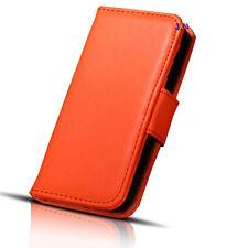 Iphone 4 Flip Pu Cuero Suave De Cartera Bolsillo Funda Protectora Naranja