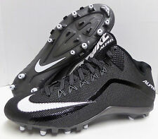 Nike Alpha Pro 2 II 3/4 TD Mid Molded Football Cleats Men's Sz 12, Black, White