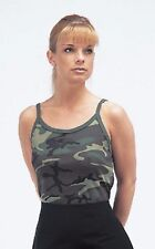 Rothco Woodland Camo Vintage Ladies Tank Top SIZE XS/S NEW