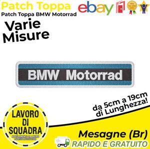 Patch Toppa Bmw Motorrad 1 Motori Moto Motors Rider Riders Termoadesiva Ricamo