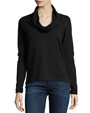 NWT JAMES PERSE Cowl-Neck Sweatshirt Pullover, Black 4