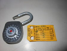 NOS NEW Vintage Antique Gougler Lock Company Keyless Combination Lock 1933