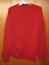 Men's J. Crew red cable sweater size L