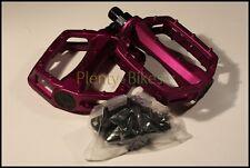 Purple 9/16 VP Bike Bicycle Fixie BMX Wide Alloy Platform Pedals Set Pair 355118
