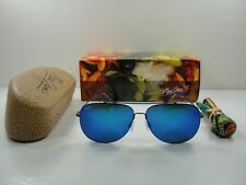 MAUI JIM CINDER CONE POLARIZED B789-02S SUNGLASSES GUNMETAL/BLUE HAWAII LENS